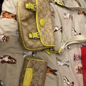 Matching coach bag and wallet